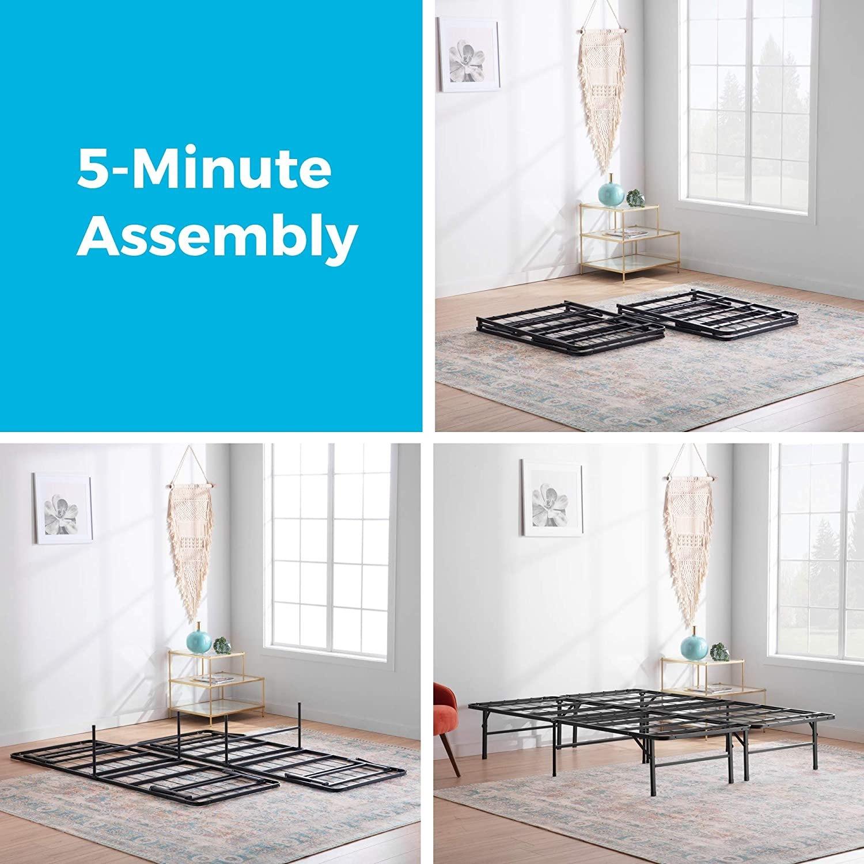 Top-Line Linenspa 14 Inch Folding Metal Platform Bed Frame - image-3