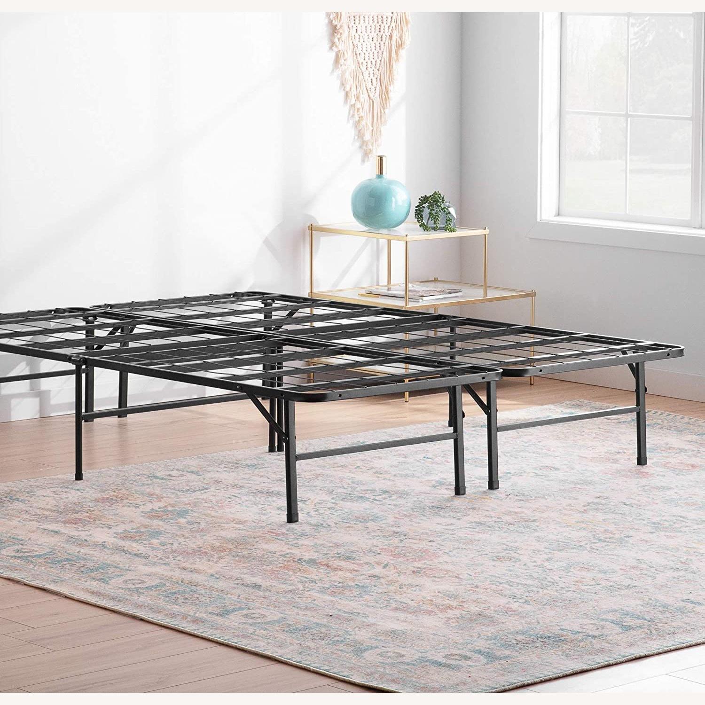 Top-Line Linenspa 14 Inch Folding Metal Platform Bed Frame - image-1