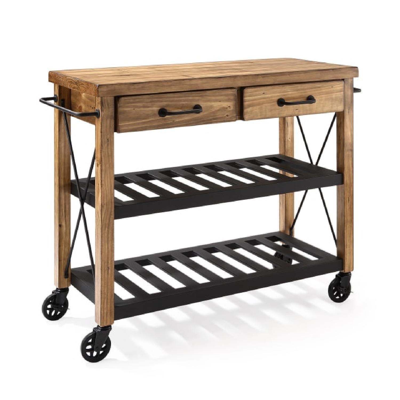 Crosley Furniture Wooden Kitchen Cart - image-5