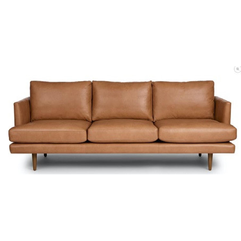 Article. Burrad Caramel Leather Sofa - image-5