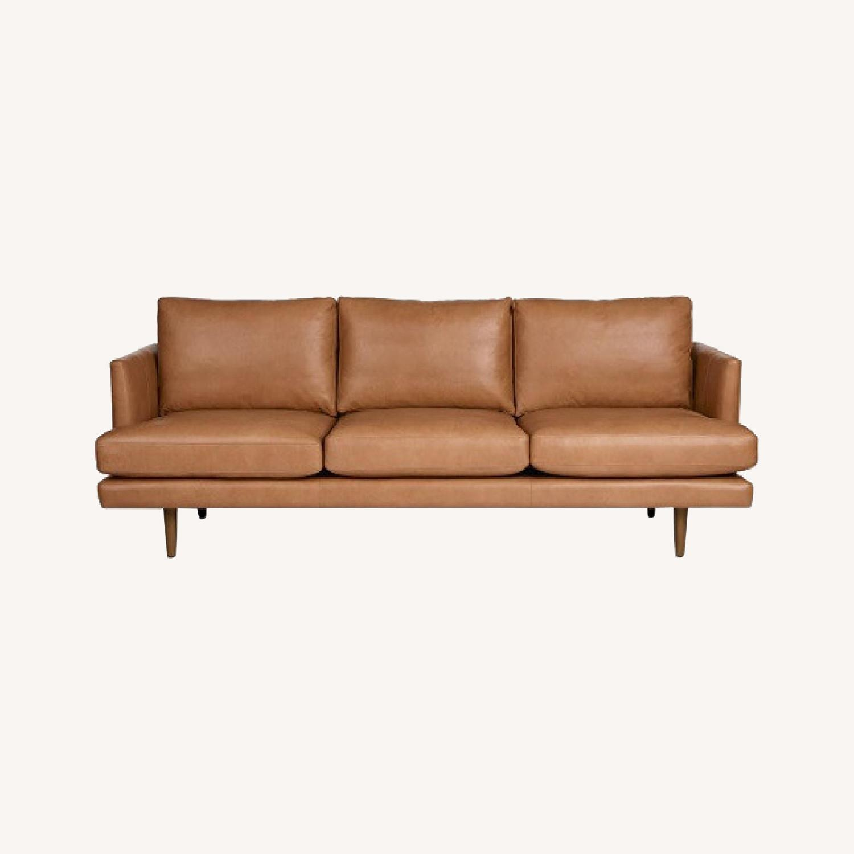 Article. Burrad Caramel Leather Sofa - image-0