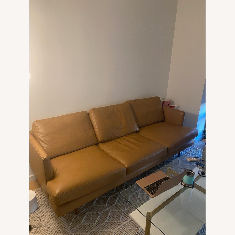 Article. Burrad Caramel Leather Sofa - image-1