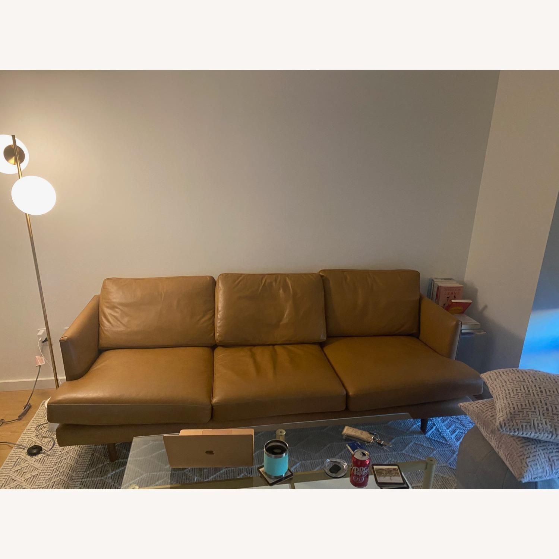 Article. Burrad Caramel Leather Sofa - image-2