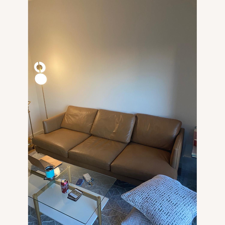 Article. Burrad Caramel Leather Sofa - image-3