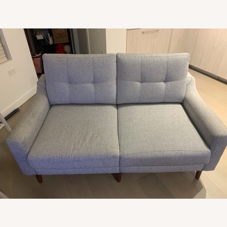 Burrow Gray 2-Seat Sofa - image-1