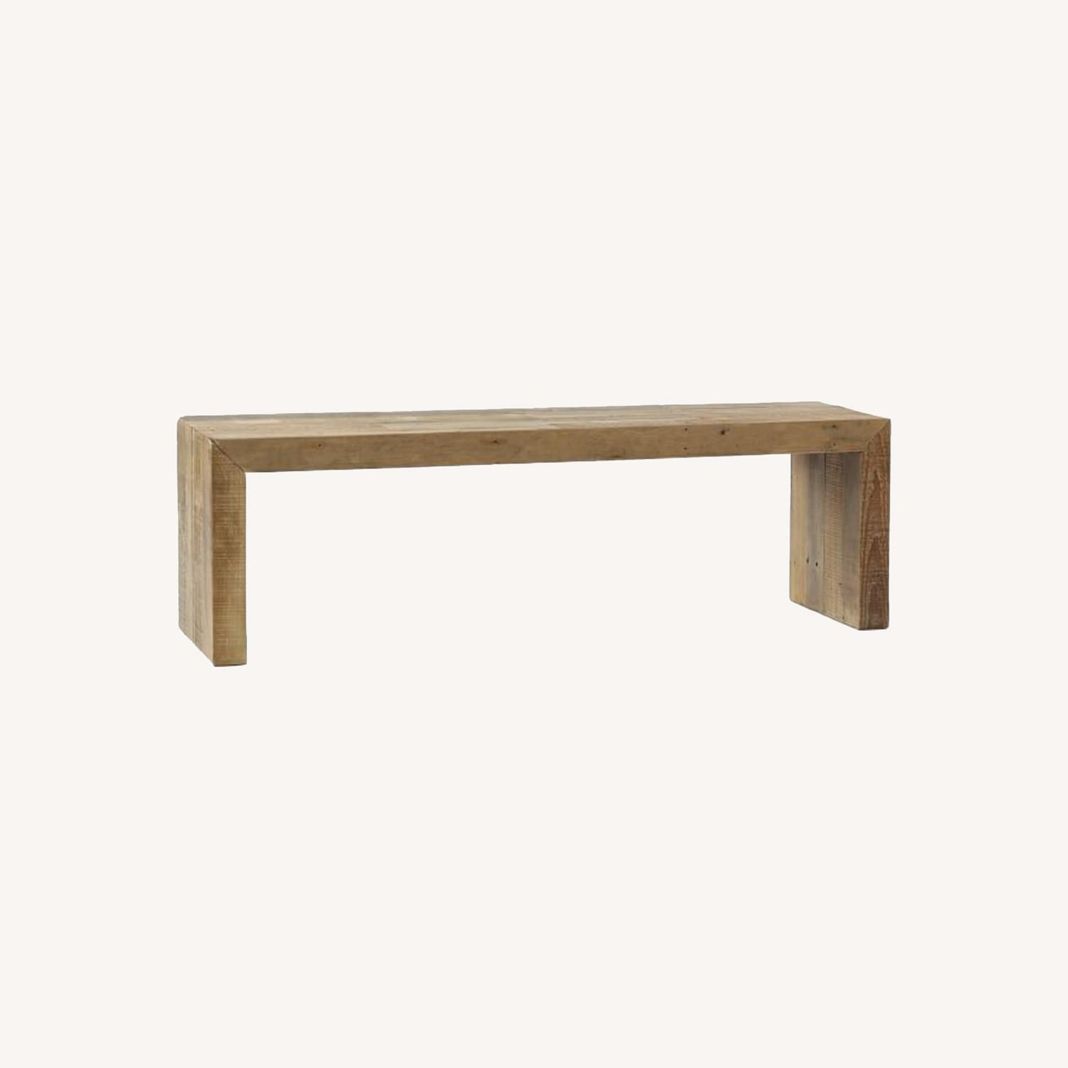 """West Elm Emerson Reclaimed Wood Dining Bench (58"""") - image-0"""