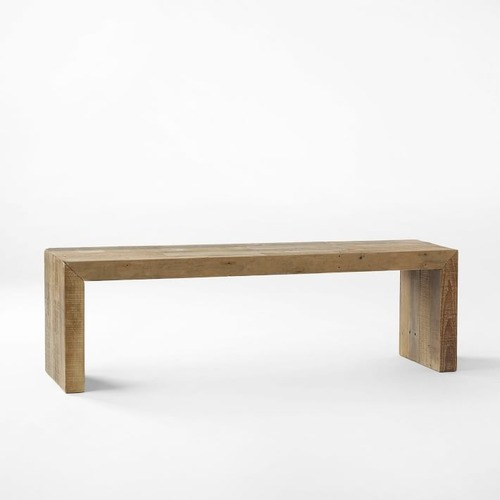 """Used West Elm Emerson Reclaimed Wood Dining Bench (58"""") for sale on AptDeco"""
