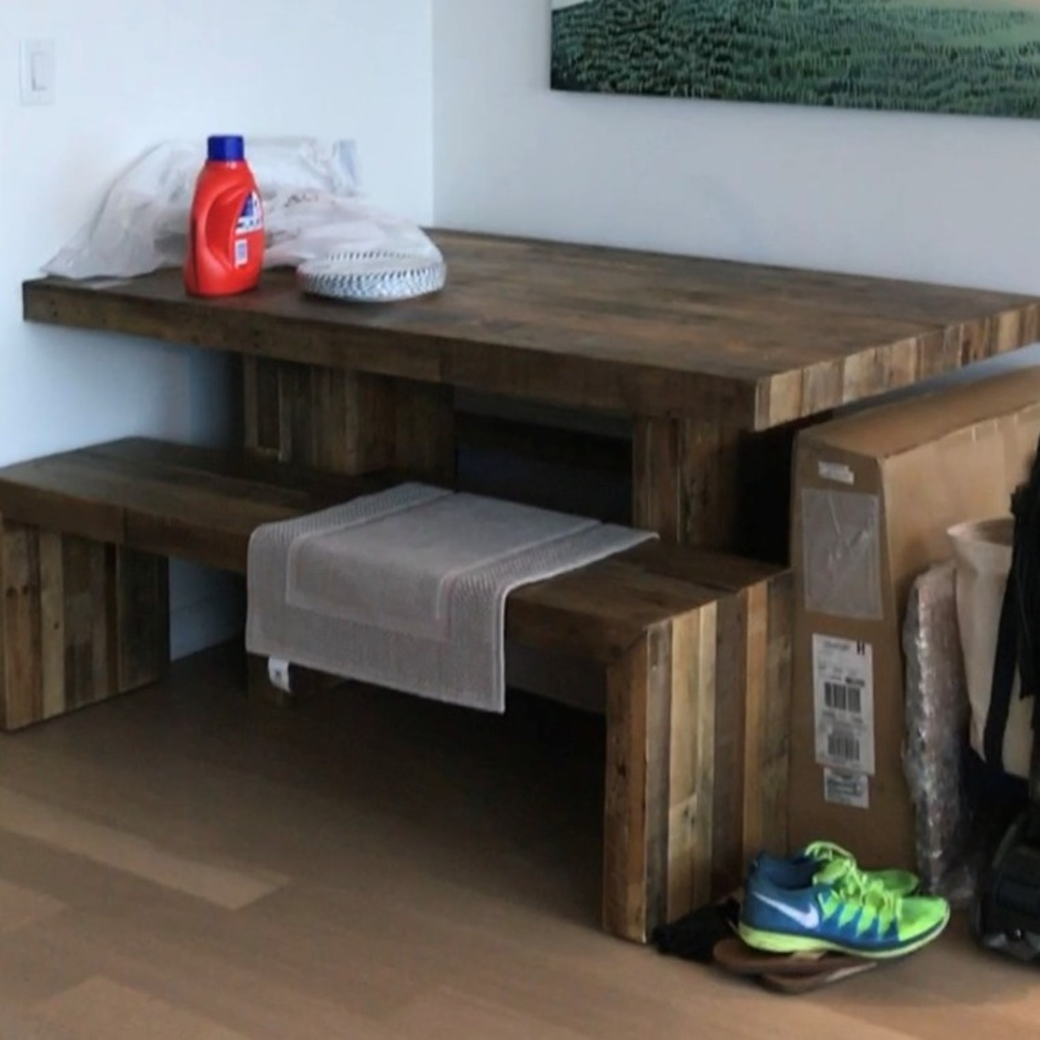 """West Elm Emerson Reclaimed Wood Dining Bench (58"""") - image-3"""