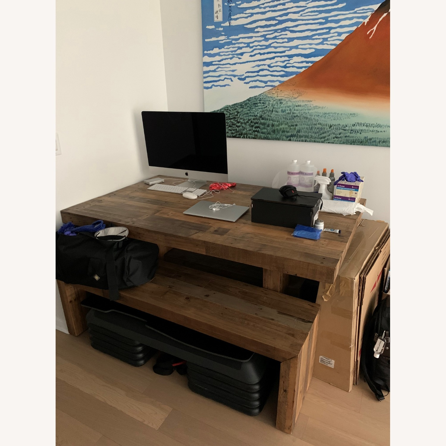 """West Elm Emerson Reclaimed Wood Dining Bench (58"""") - image-2"""