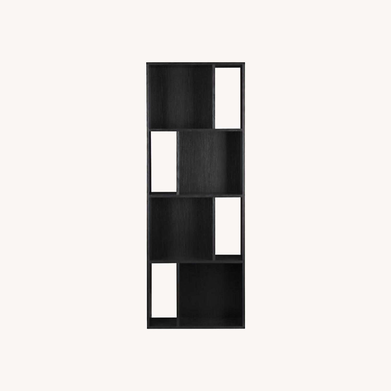 Crate & Barrel Shift Black Bookshelf - image-0