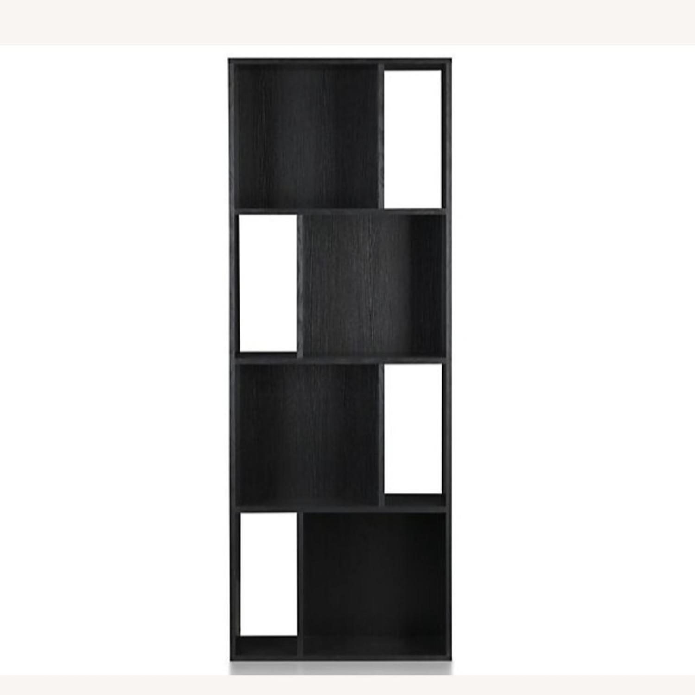 Crate & Barrel Shift Black Bookshelf - image-1