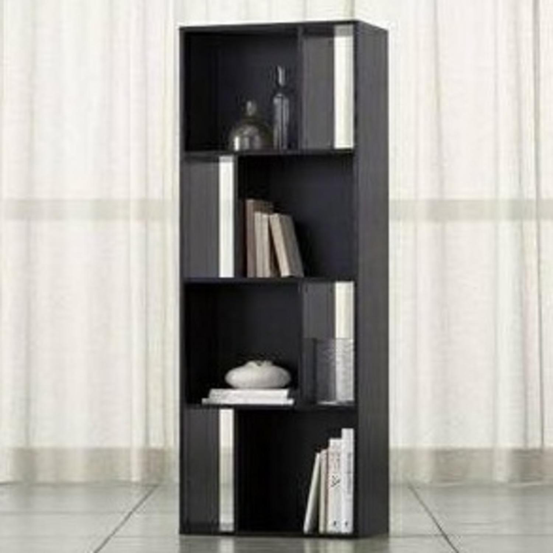 Crate & Barrel Shift Black Bookshelf - image-2