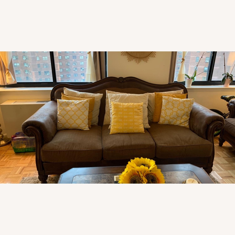 Brown 3-Piece Sofa - image-1