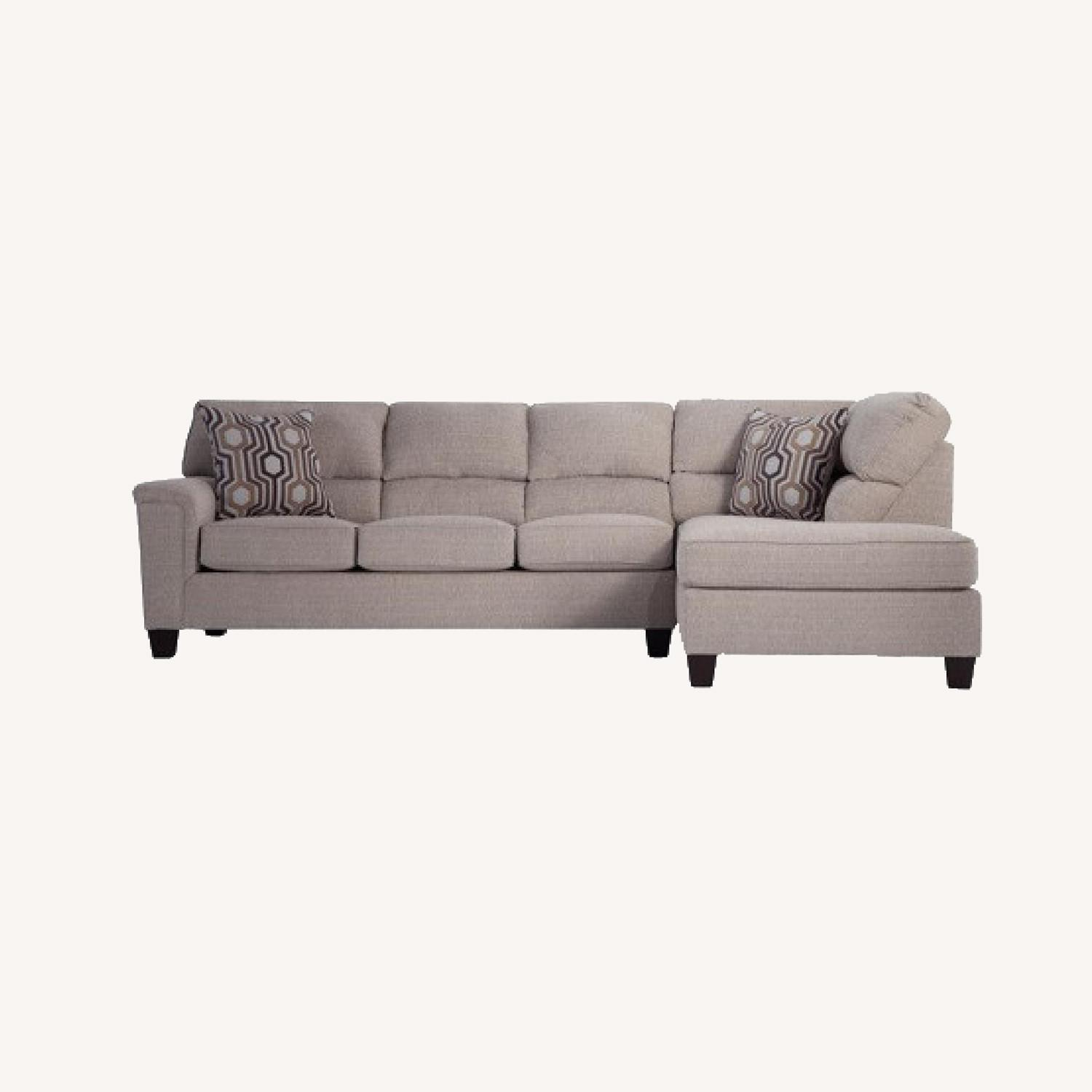 Bob's Discount Beige Sectional - image-0