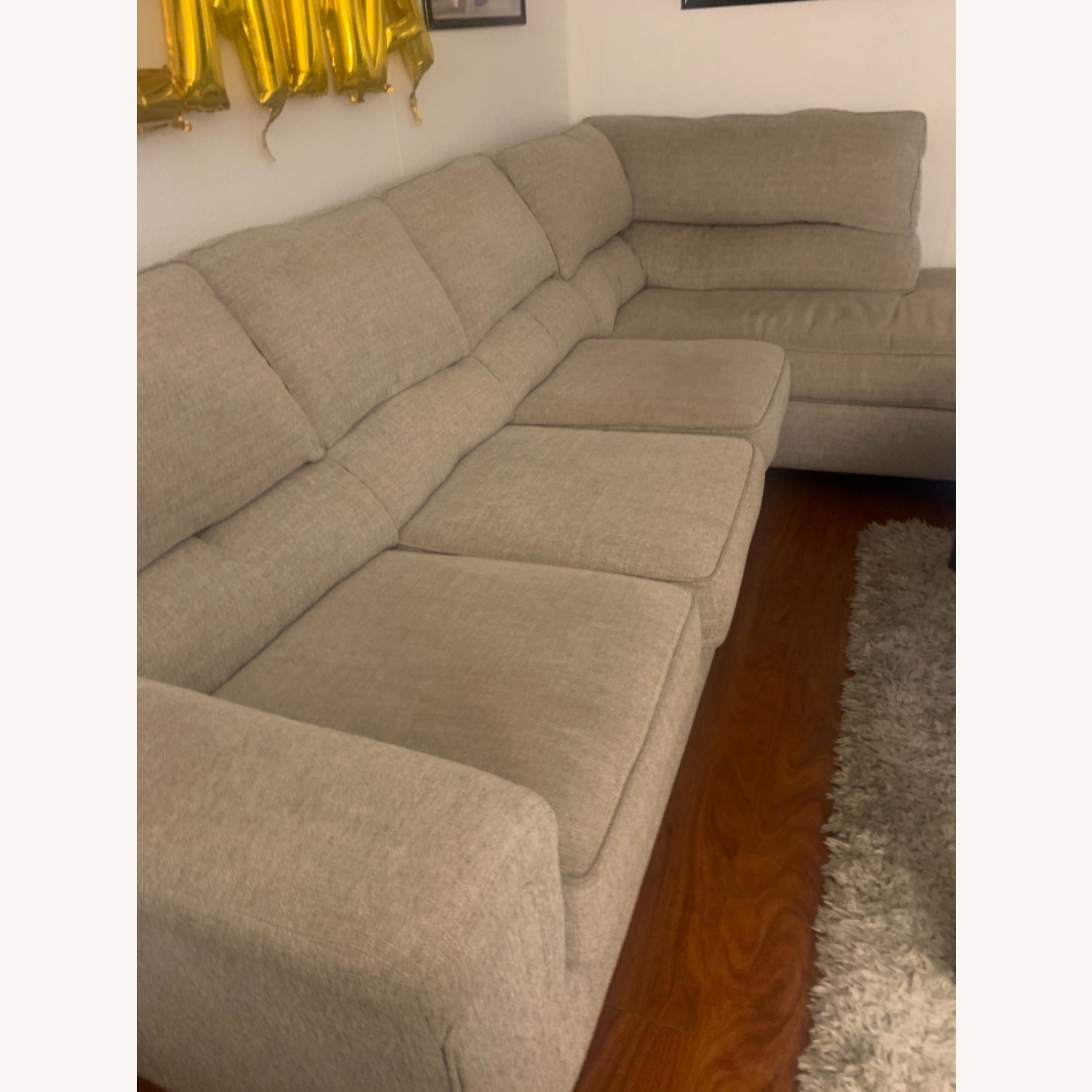 Bob's Discount Beige Sectional - image-1