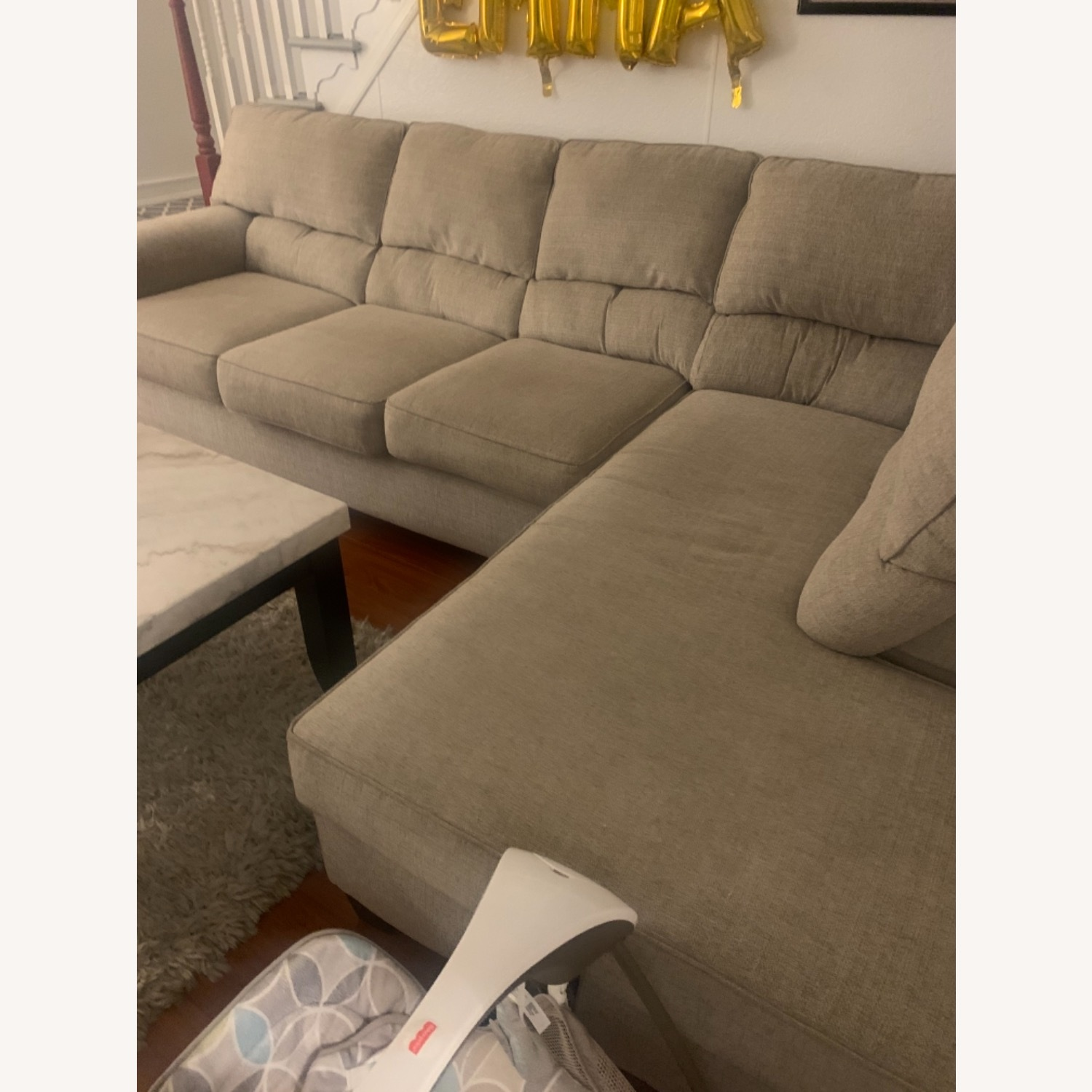 Bob's Discount Beige Sectional - image-2