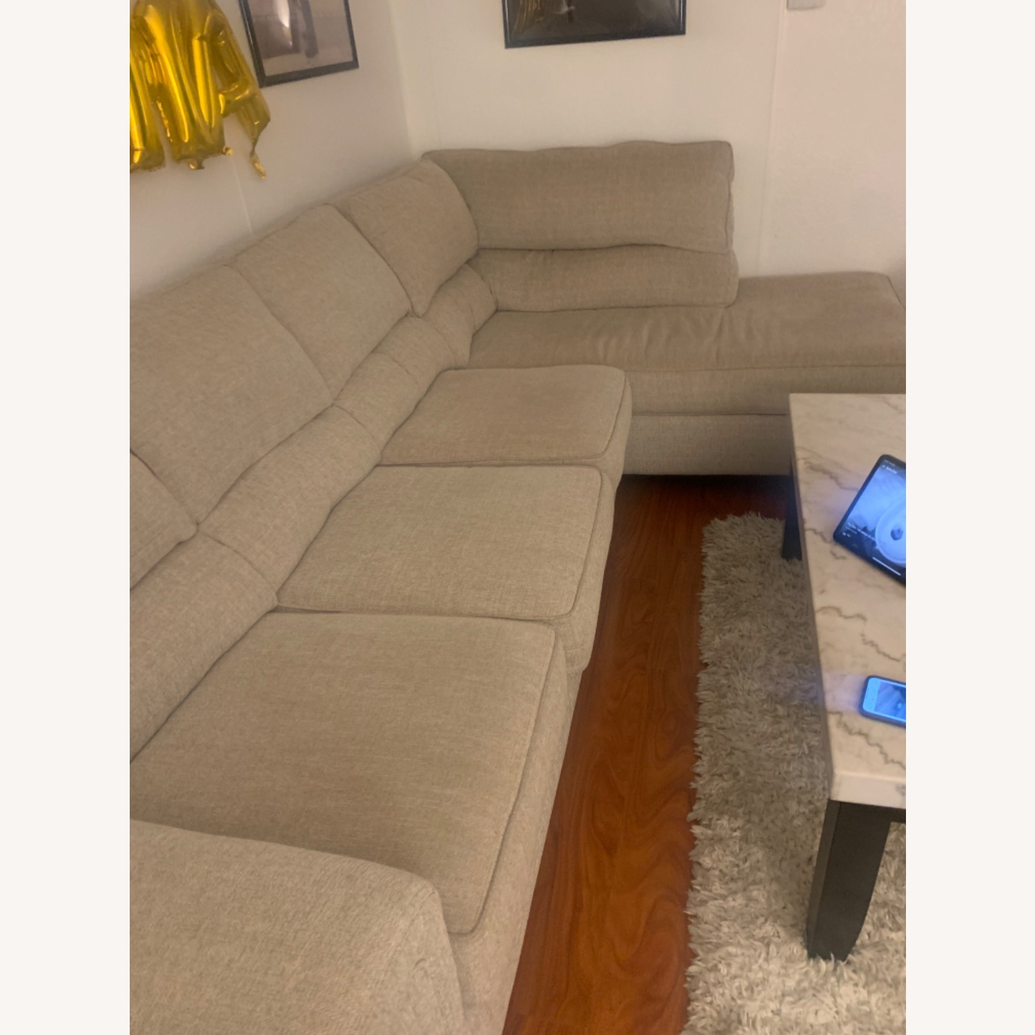 Bob's Discount Beige Sectional - image-3