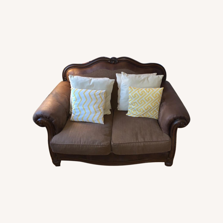 Brown 2-Seater Sofa - image-0
