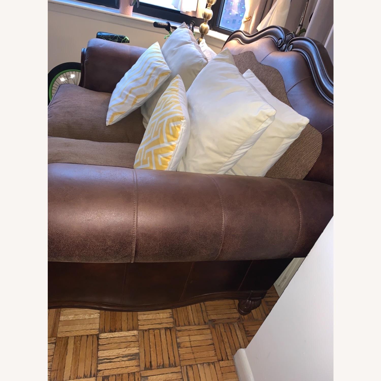 Brown 2-Seater Sofa - image-3