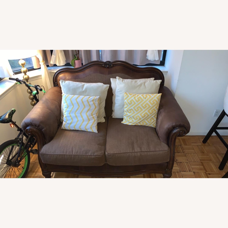 Brown 2-Seater Sofa - image-1