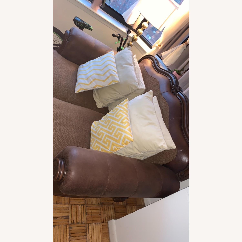 Brown 2-Seater Sofa - image-2