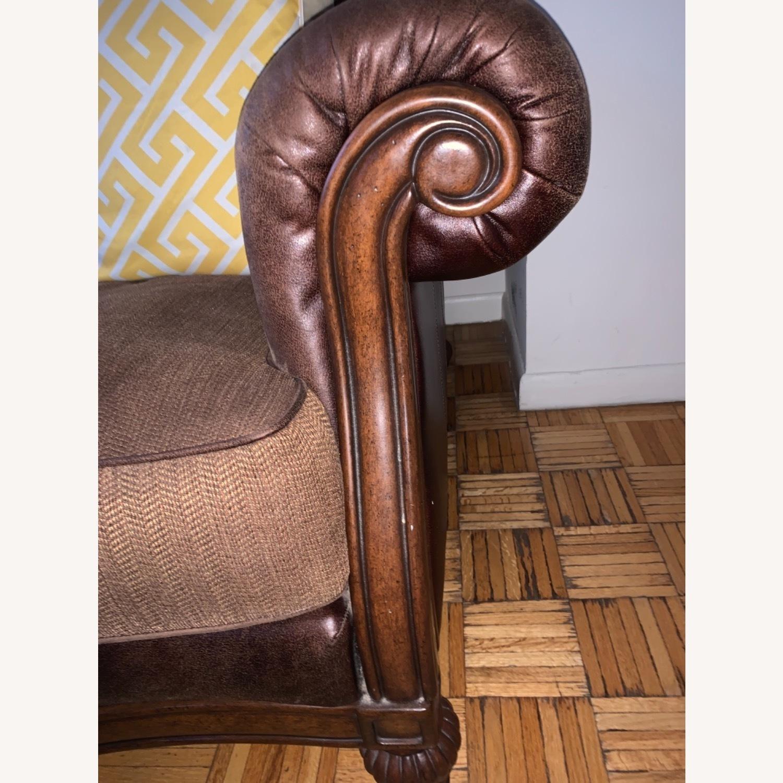 Brown 2-Seater Sofa - image-4