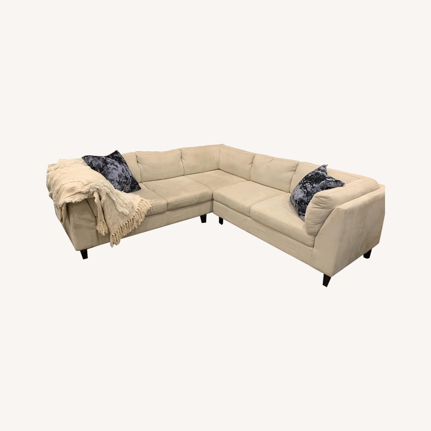 EQ3 Ivory 2 Piece Sectional - image-0