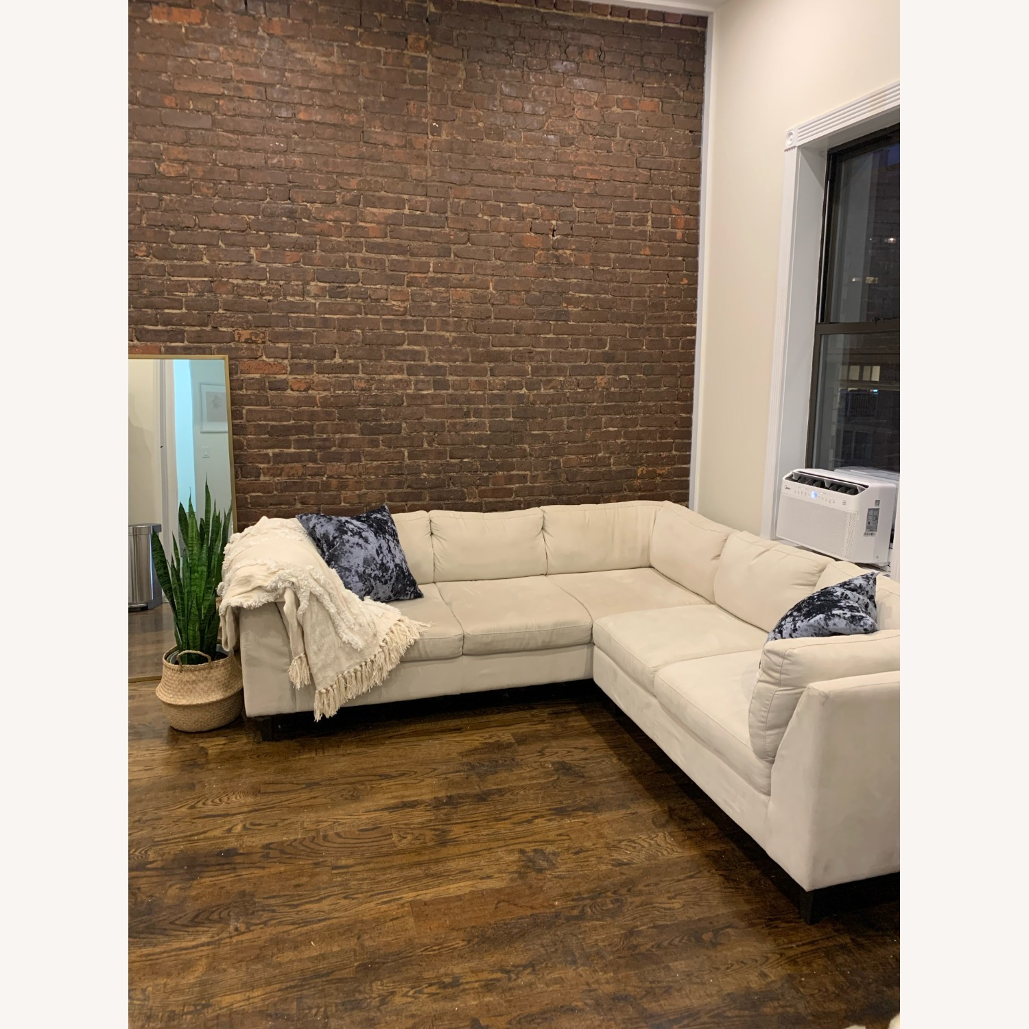 EQ3 Ivory 2 Piece Sectional - image-1