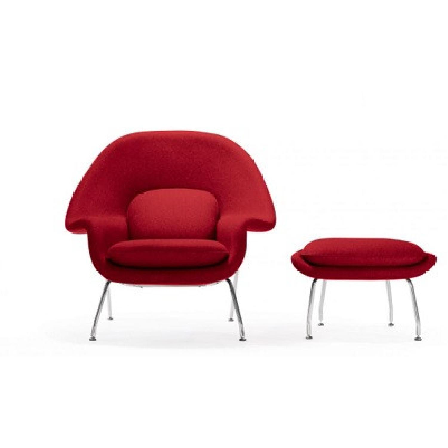 Rove Concepts Womb Chair and Ottoman - image-4