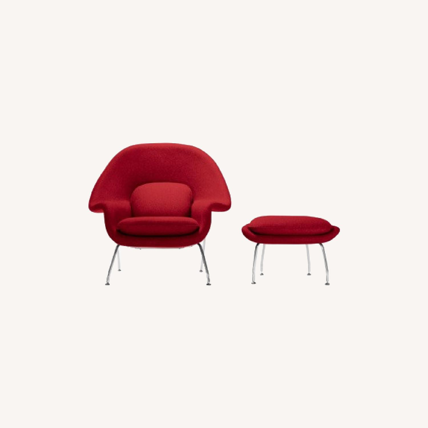 Rove Concepts Womb Chair and Ottoman - image-0