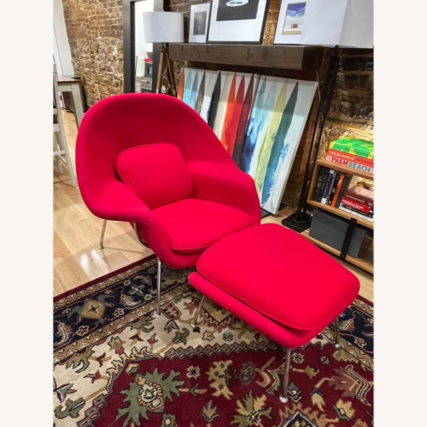Rove Concepts Womb Chair and Ottoman - image-3