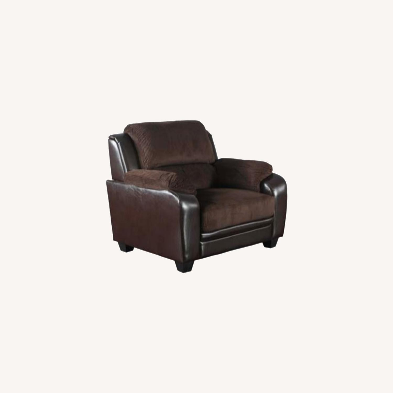 Chair In Rich Chocolate Leatherette - image-6