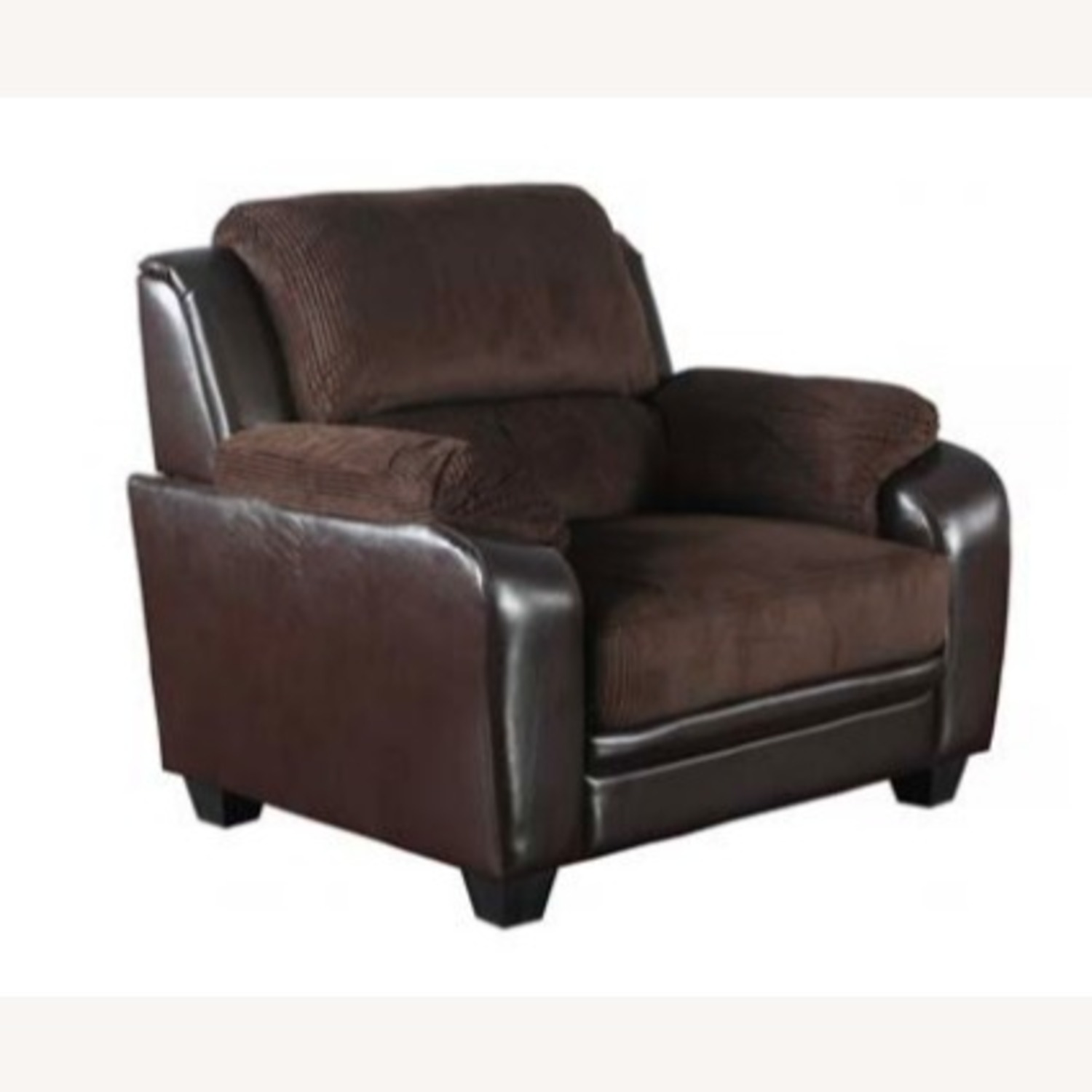 Chair In Rich Chocolate Leatherette - image-0