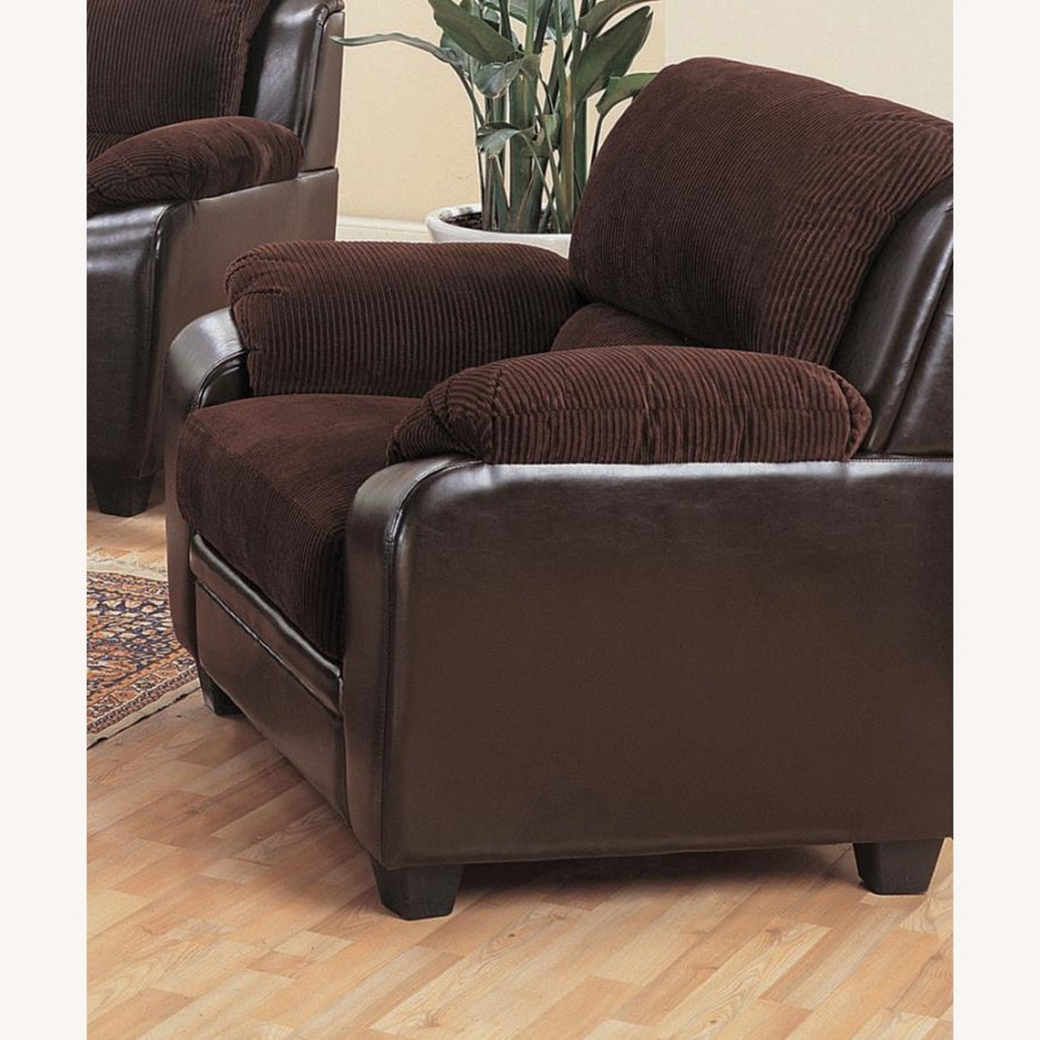 Chair In Rich Chocolate Leatherette - image-1