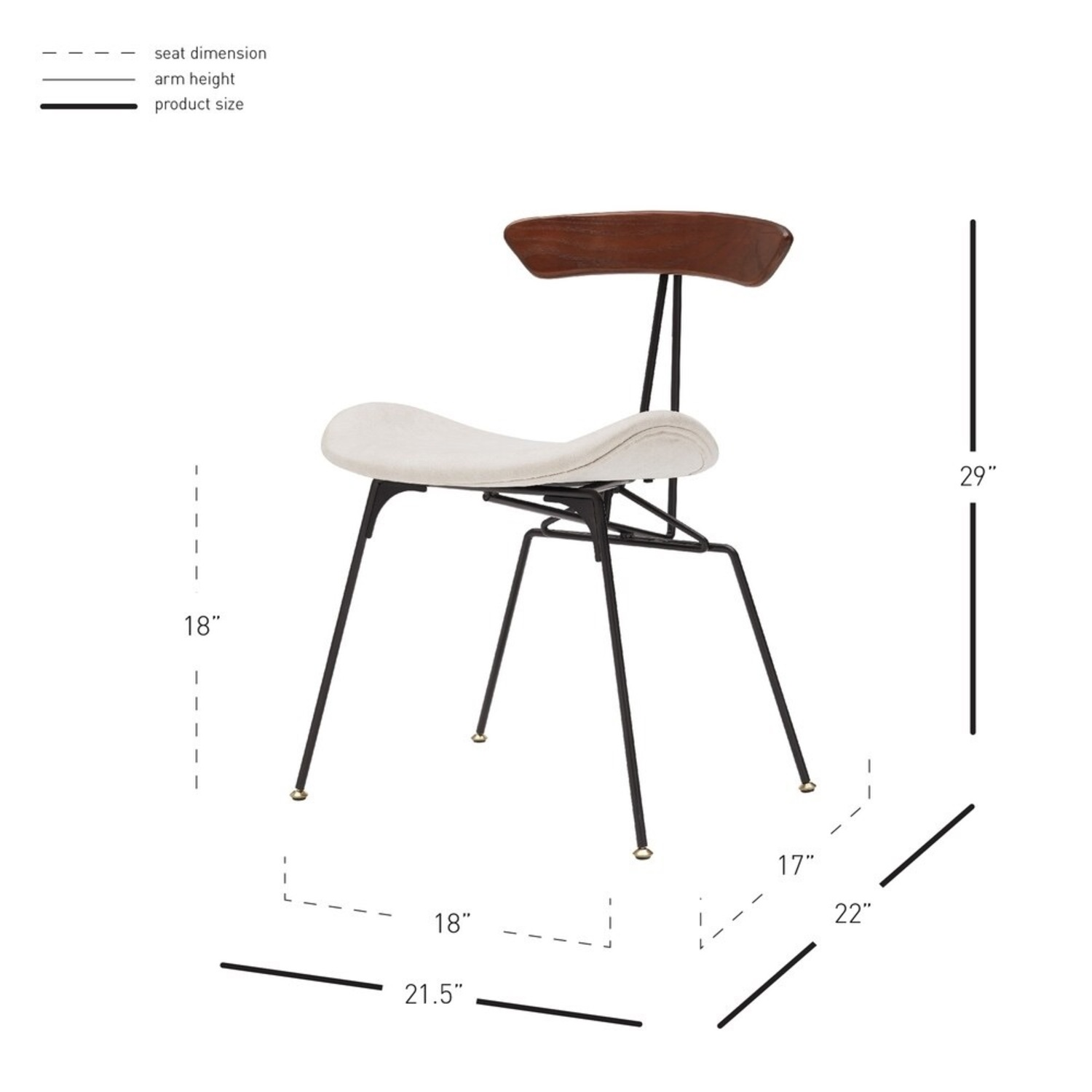 Contemporary Piece of Art Dining Chair - image-4