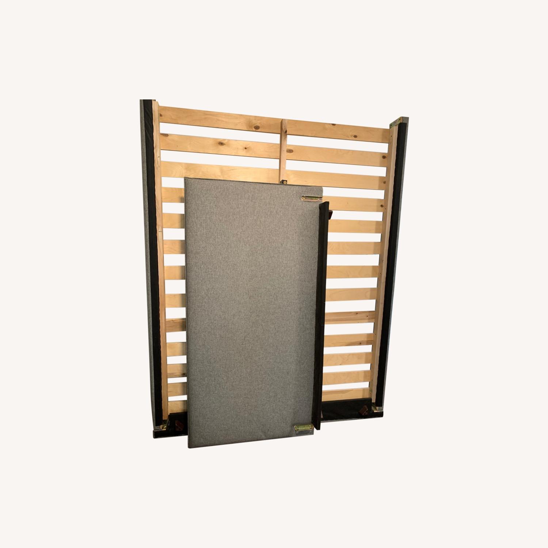 AllModern Gray Queen Bed Frame - image-0