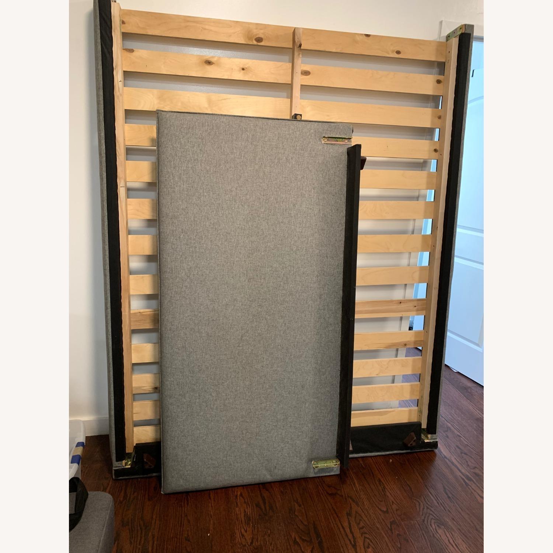 AllModern Gray Queen Bed Frame - image-1
