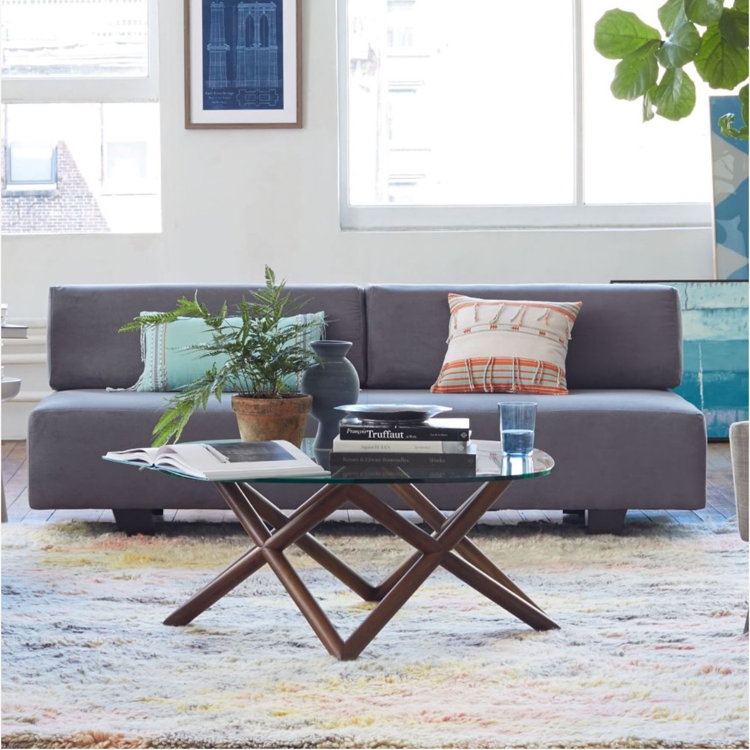 West Elm Tillary Couch - image-1