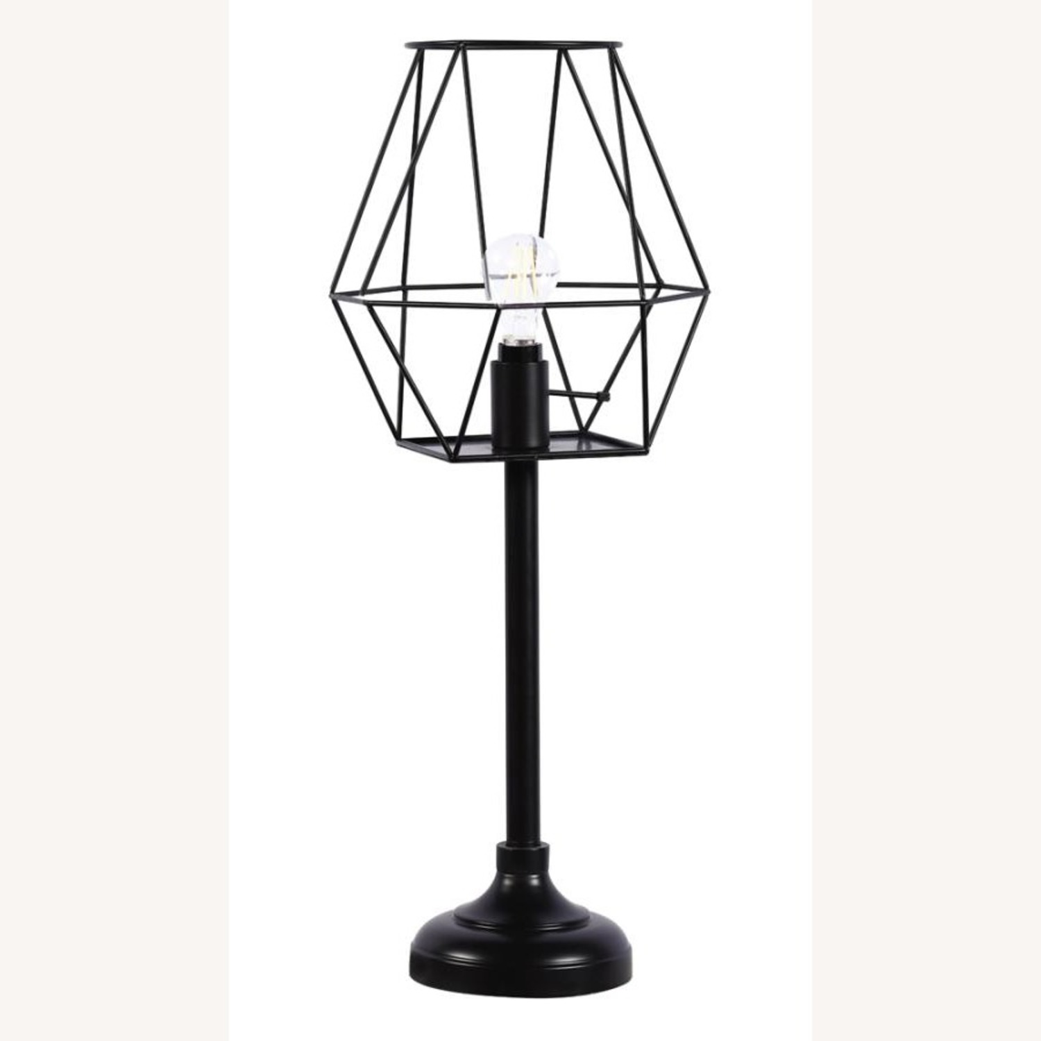 Industrial Decor Table Lamp In Black Metal Finish - image-1