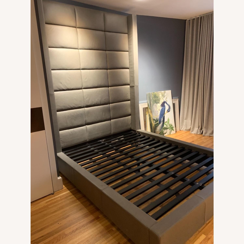 Restoration Hardware Leather Headboard Platform Bed - image-2