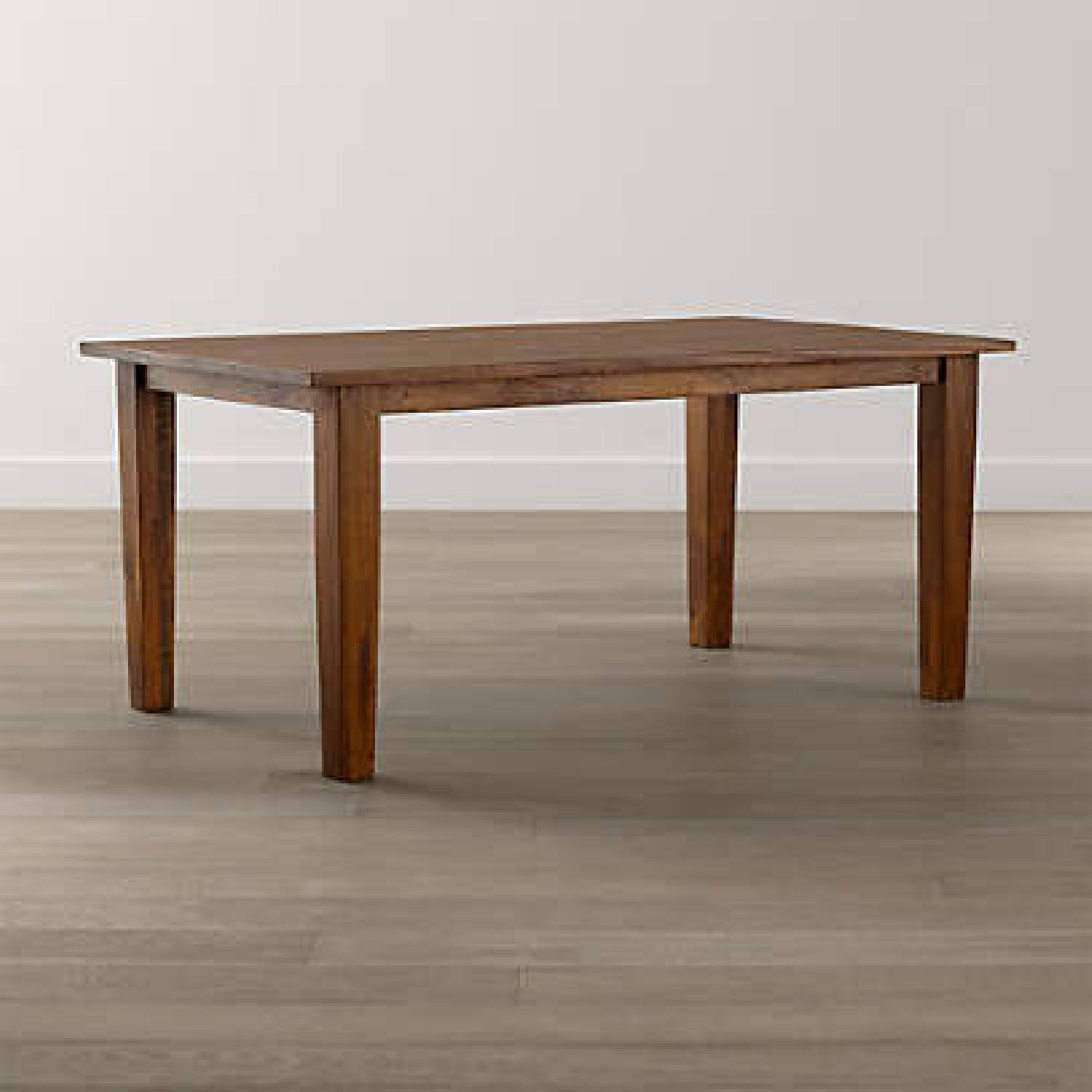 Crate & Barrel Basque Honey Brown Dining Table - image-5