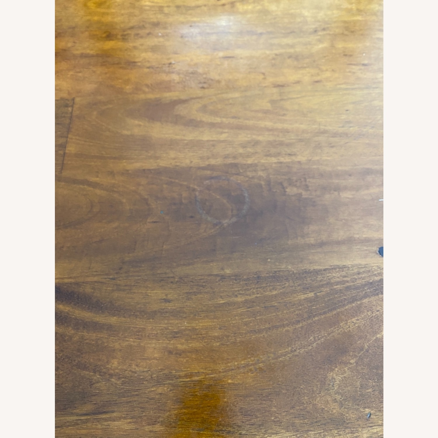 Crate & Barrel Basque Honey Brown Dining Table - image-3