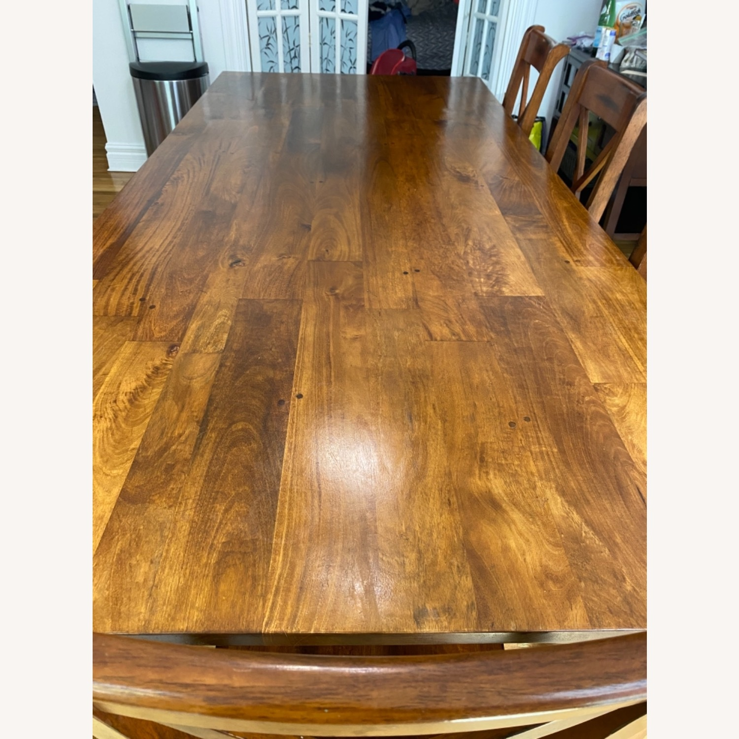 Crate & Barrel Basque Honey Brown Dining Table - image-2