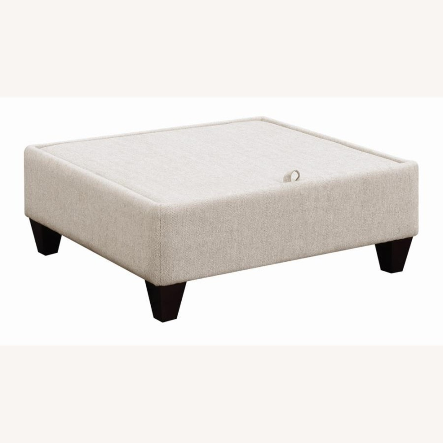 Sectional In Cream Chevron Dobby Upholstery - image-6