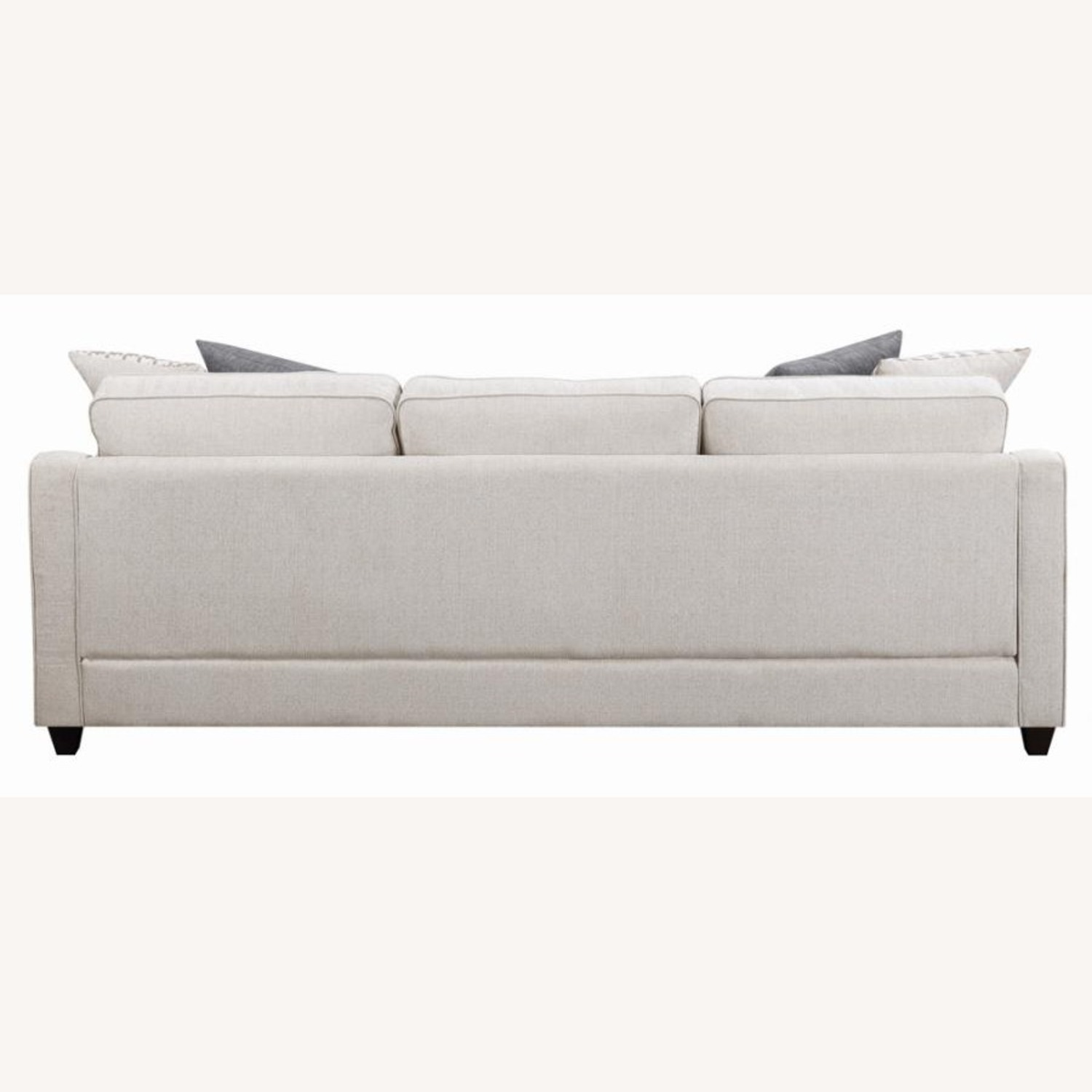 Sectional In Cream Chevron Dobby Upholstery - image-4