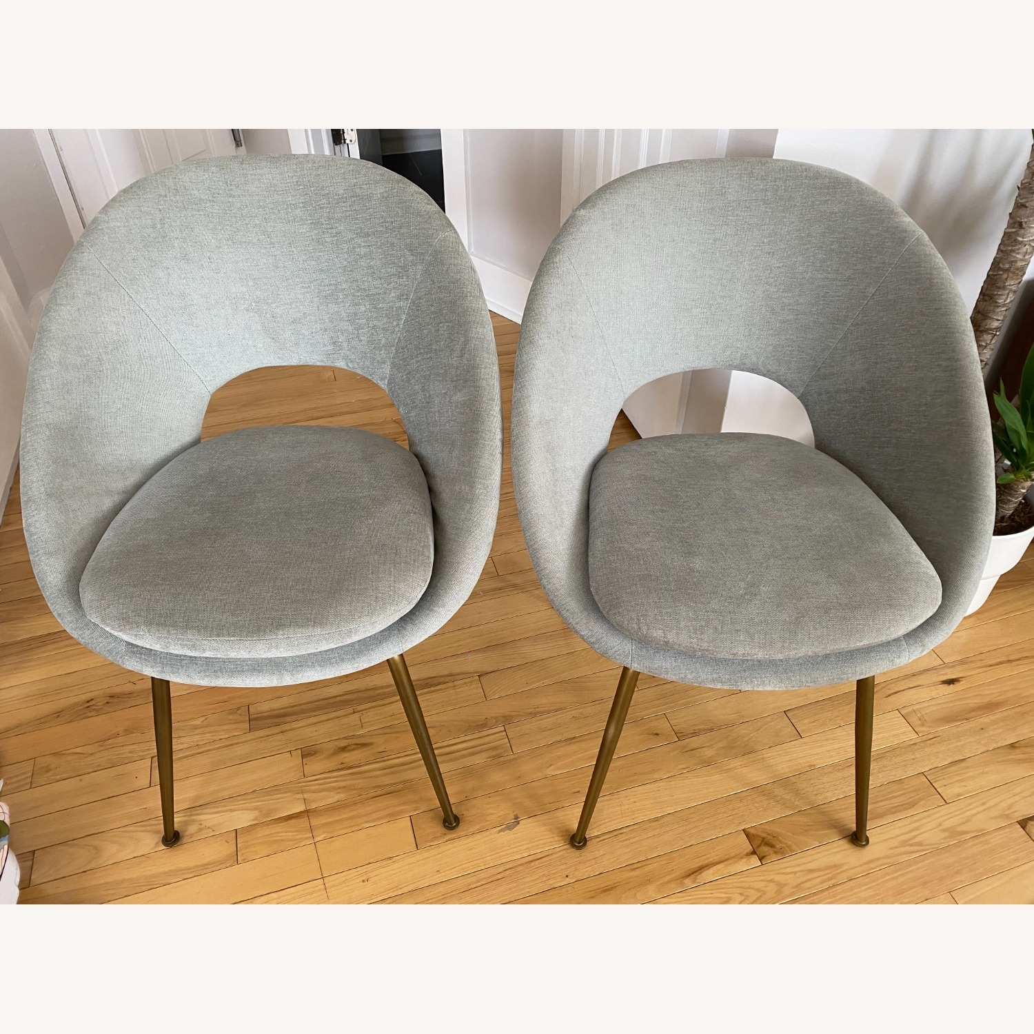West Elm Orb Dining Chairs - image-9
