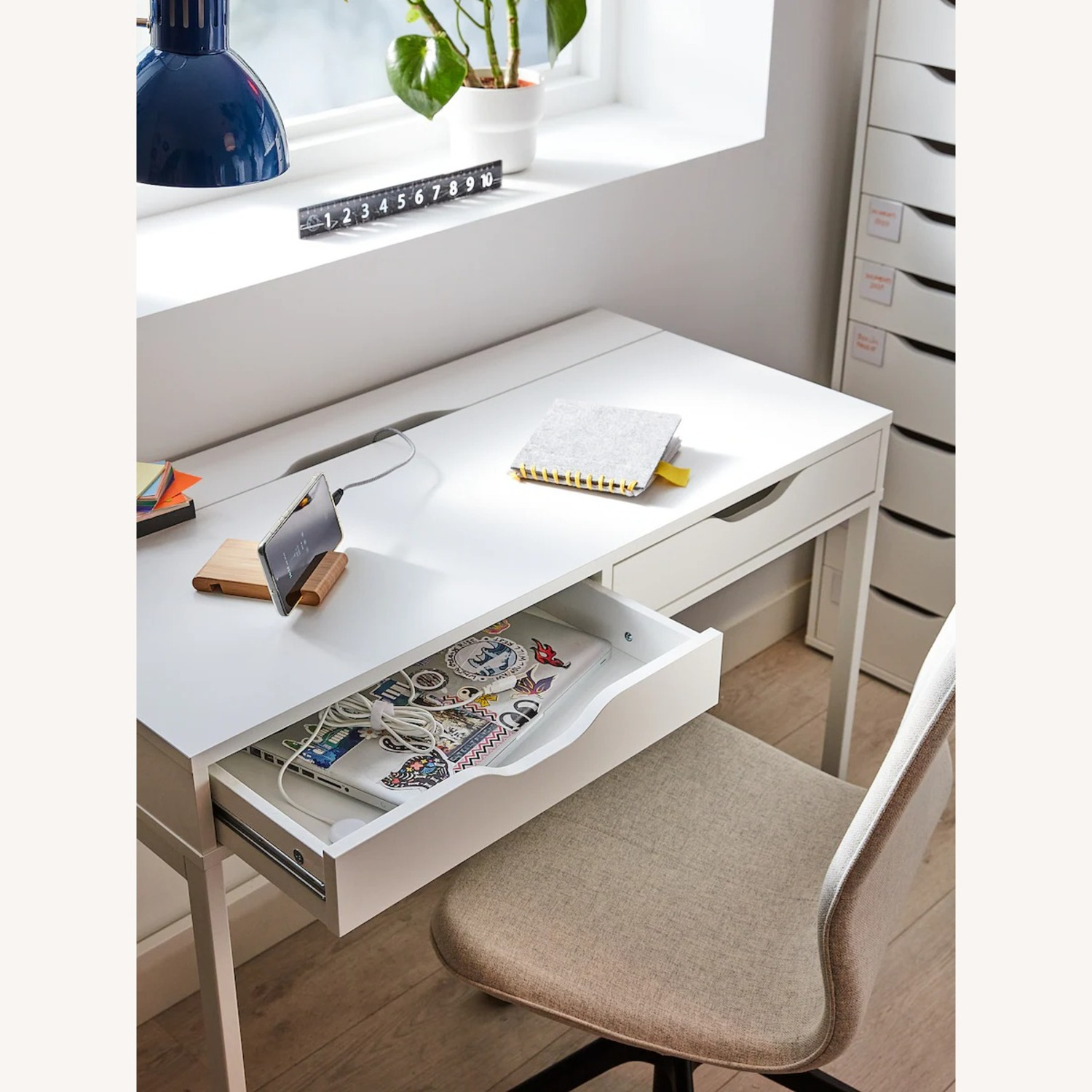IKEA Alex Desk with Drawers - image-3