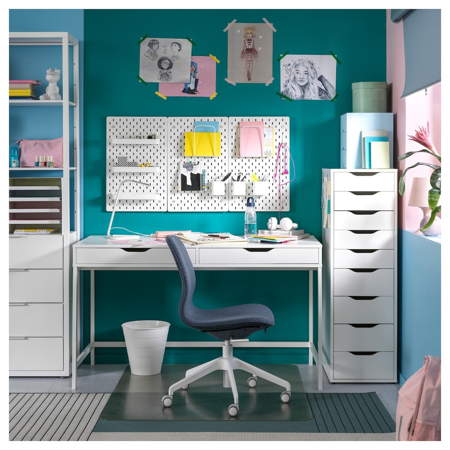IKEA Alex Desk with Drawers - image-5