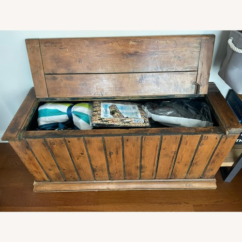 Used Vintage Solid Wood Storage Chesk/Trunk for sale on AptDeco