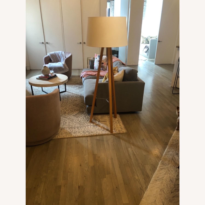 West Elm Neutral Wooden Floor Lamps - image-2